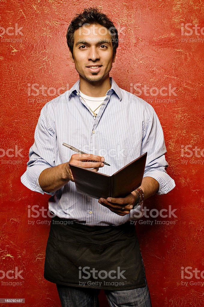 Waiter Taking Order royalty-free stock photo