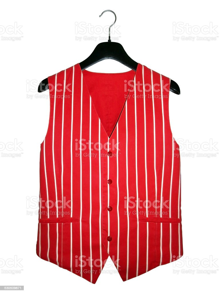 Waiter vest stock photo