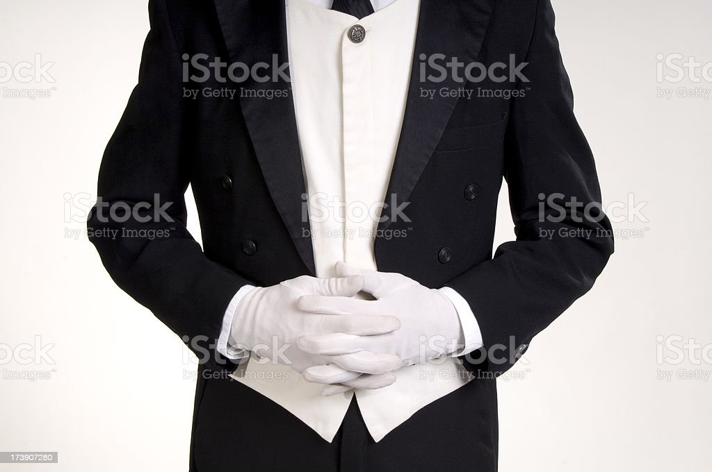 Waiter, waiting stock photo