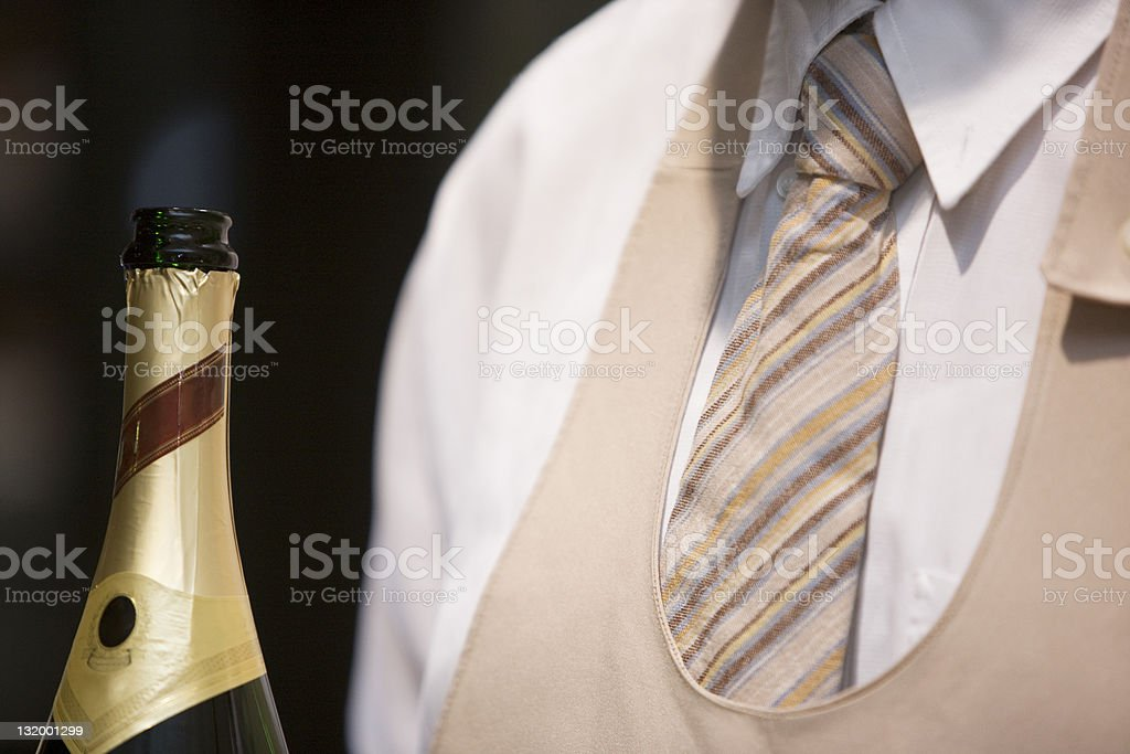 Waiter with Champagne royalty-free stock photo