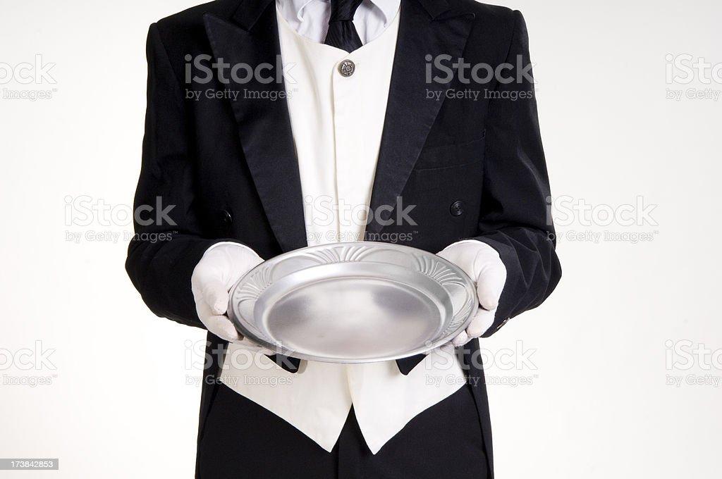 Waiter's Tray stock photo