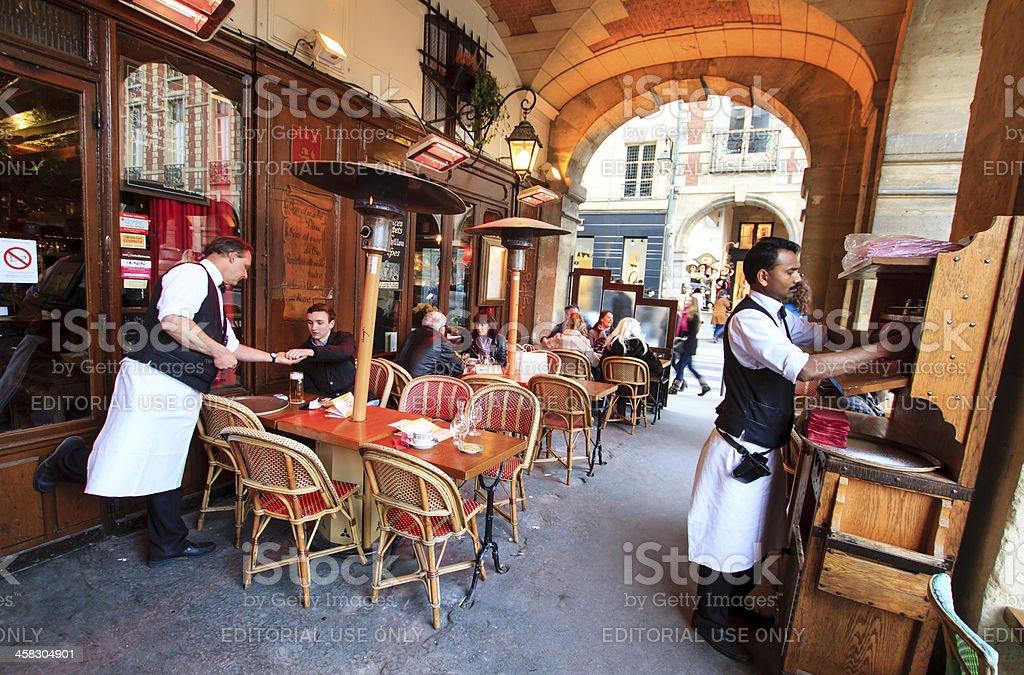Waiters working stock photo
