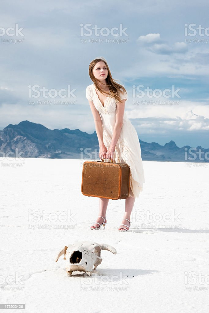 Waiting Alone stock photo
