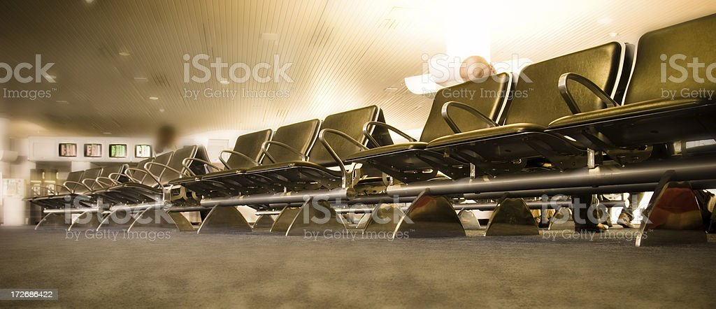 Waiting area in Miami International Airport royalty-free stock photo