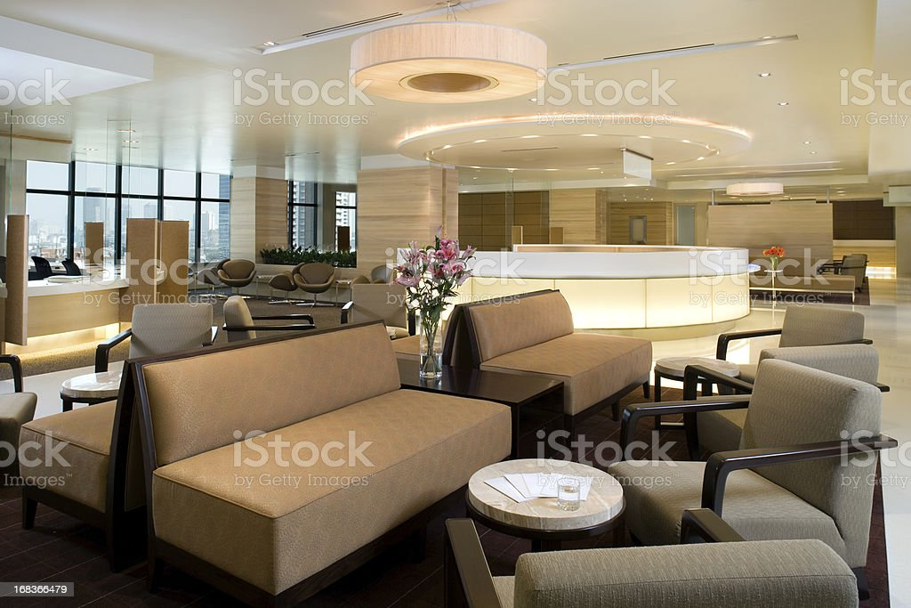 Waiting Area Interior stock photo