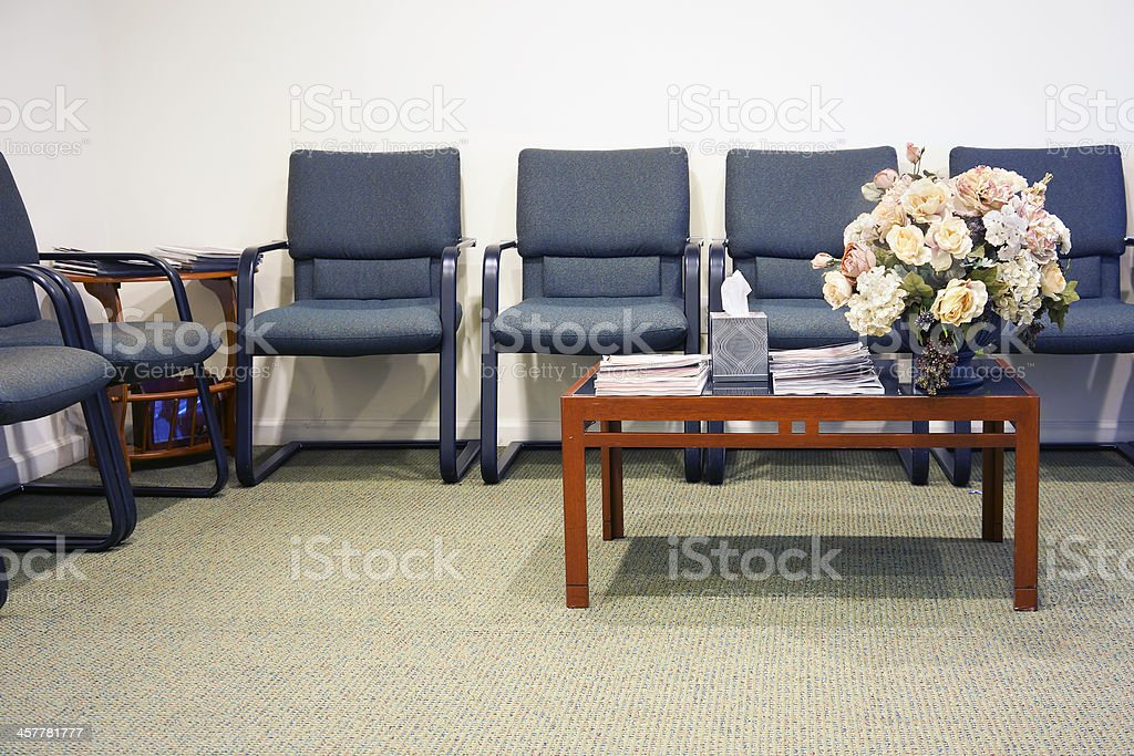 Waiting area stock photo
