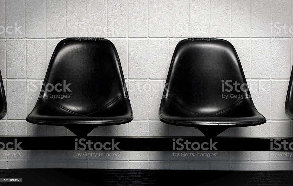 waiting area suspended seats royalty-free stock photo