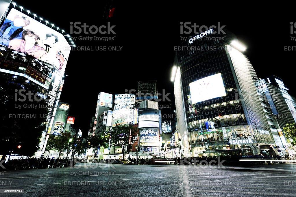 Waiting at Shibuya crossing royalty-free stock photo