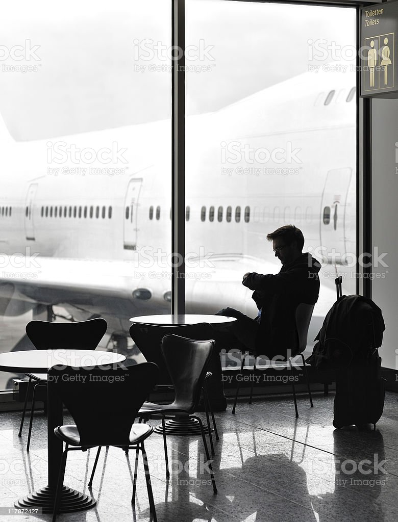 Waiting at the airport royalty-free stock photo