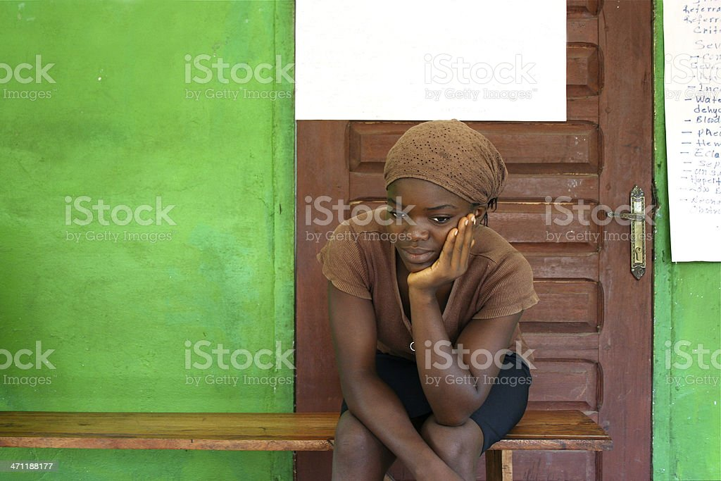 Waiting at the Clinic stock photo