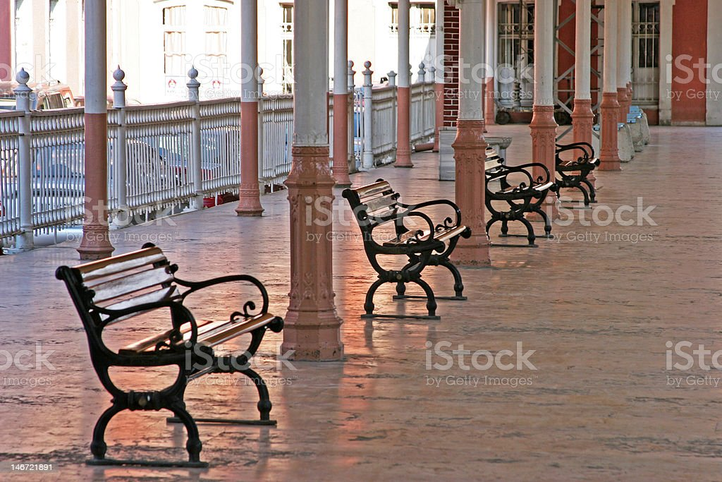 Waiting at the trainstation royalty-free stock photo