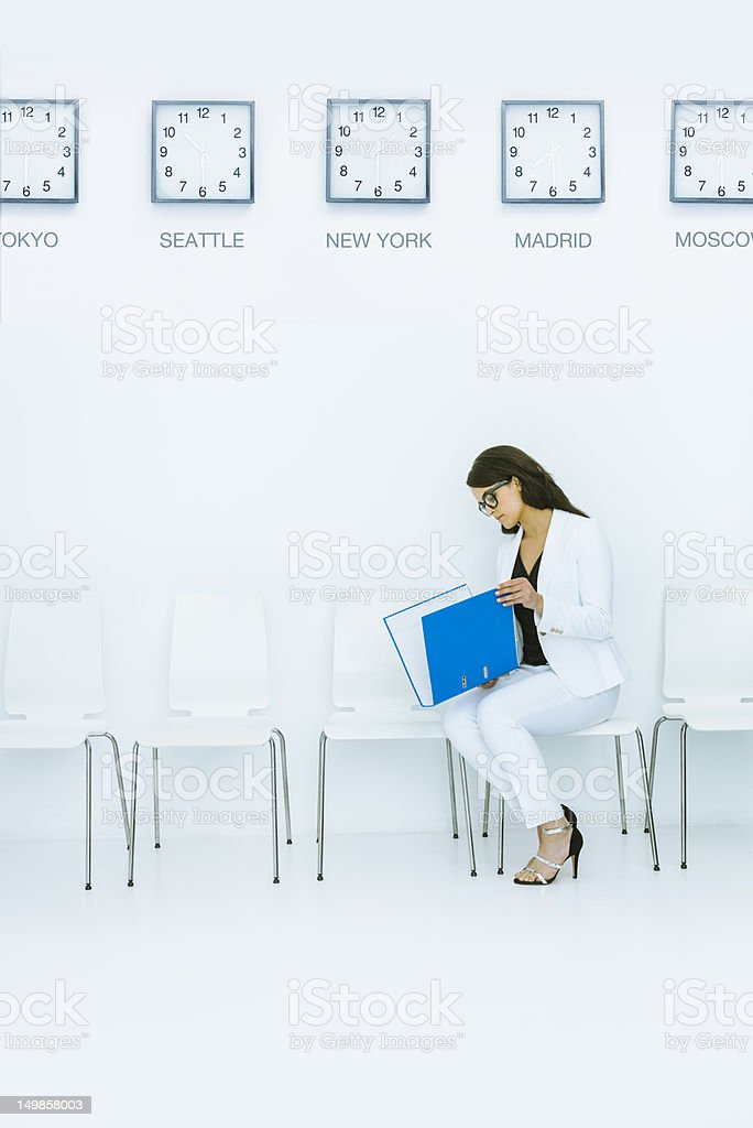 Waiting before the meeting royalty-free stock photo