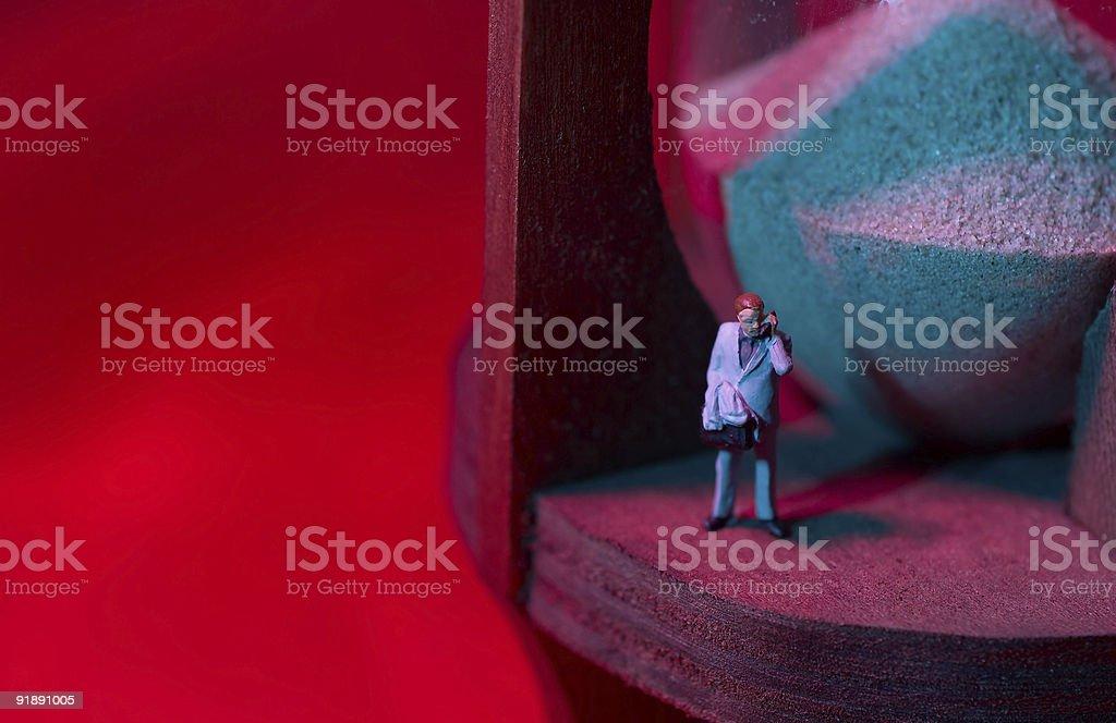 Waiting - Businessman Figure royalty-free stock photo