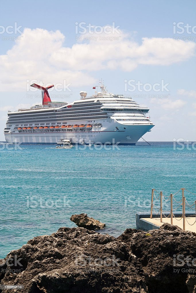 Waiting Cruise Ship royalty-free stock photo