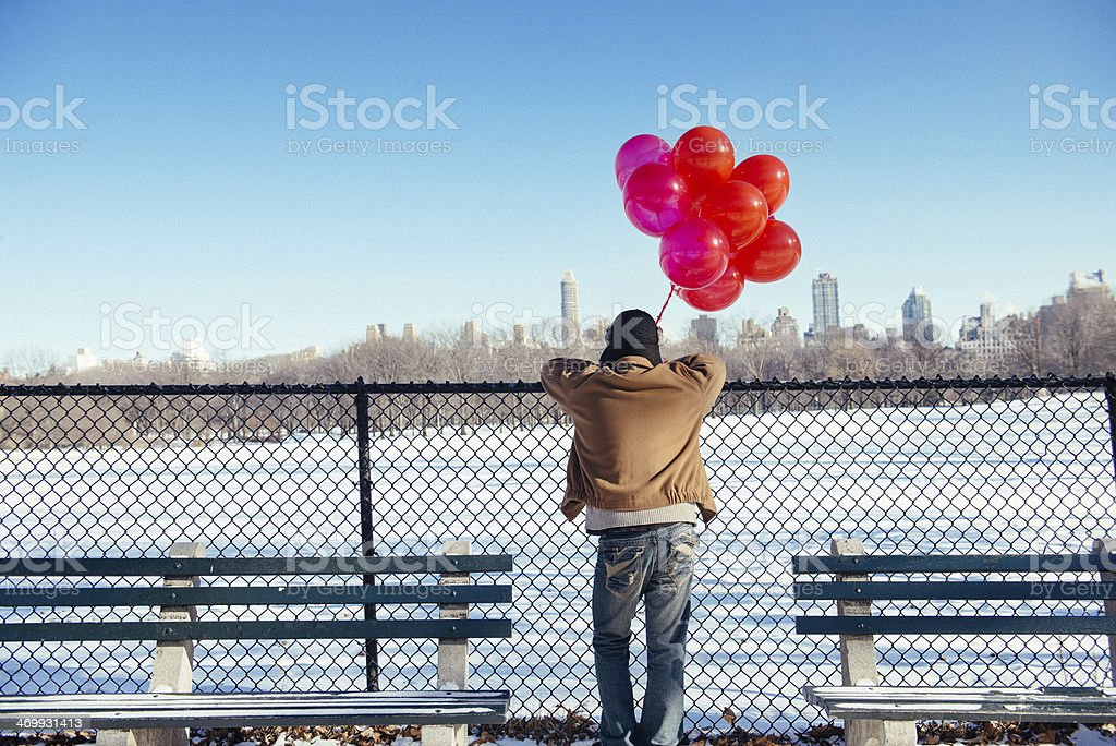 Waiting for a blind date in New York stock photo