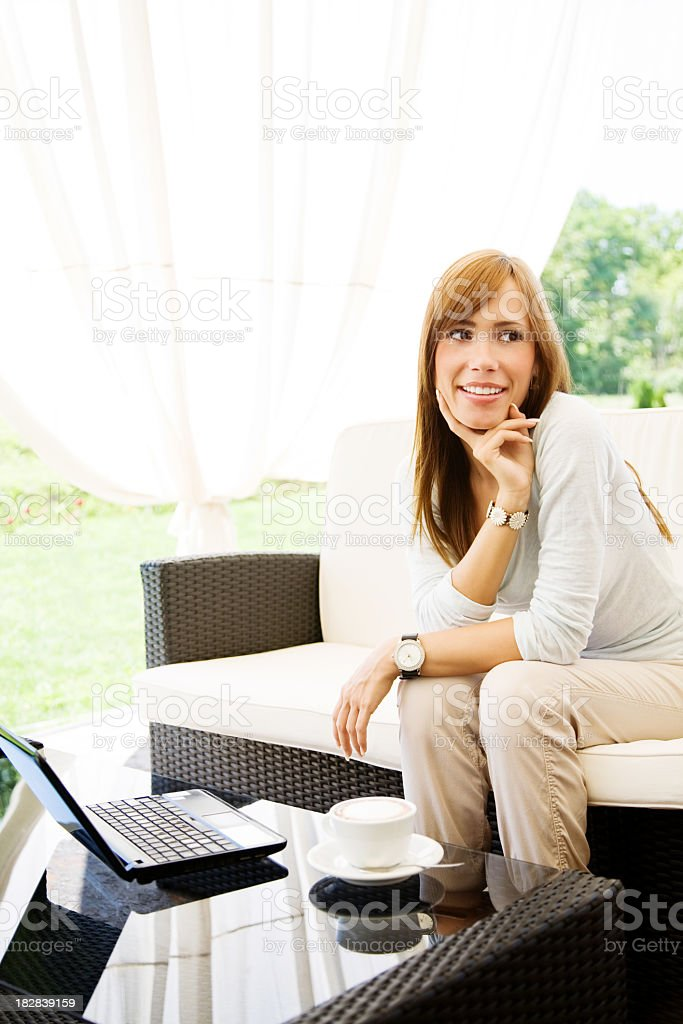Waiting for a boyfriend royalty-free stock photo