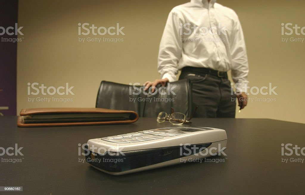 Waiting for a business call royalty-free stock photo