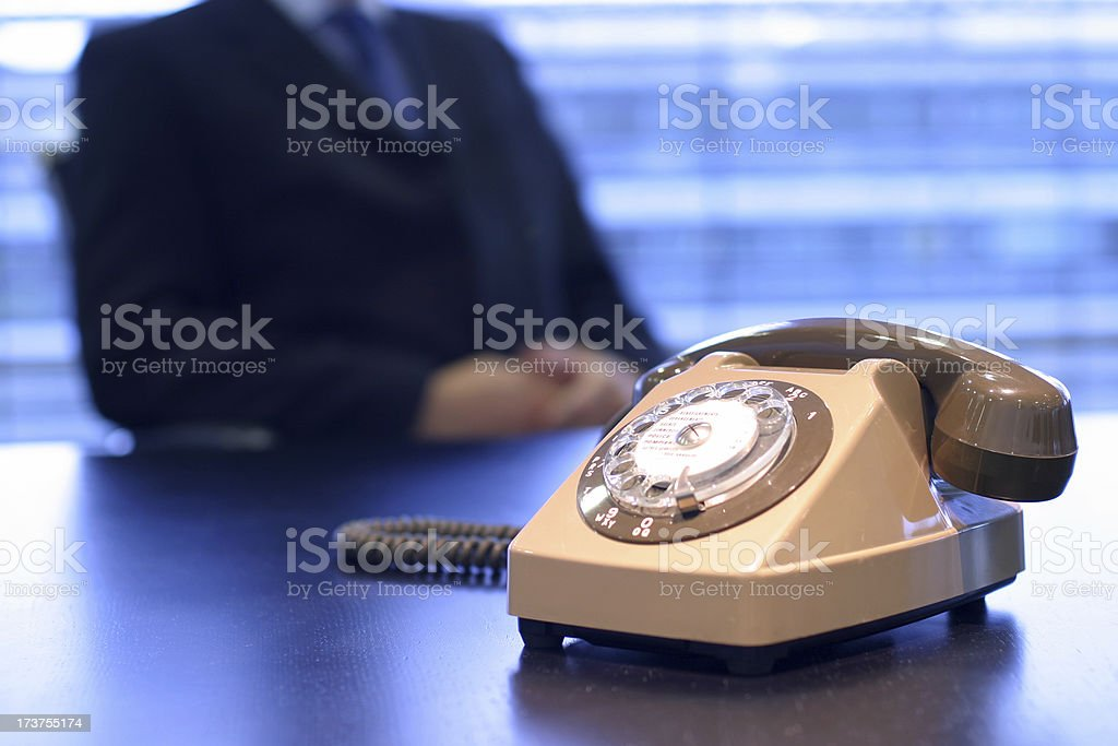 Waiting for a call royalty-free stock photo