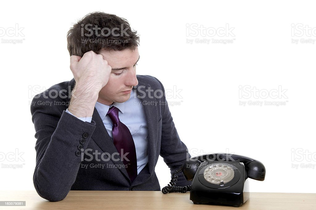 Waiting for a call stock photo