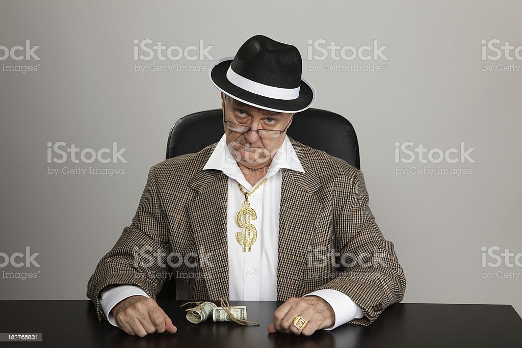 Waiting for a deal royalty-free stock photo