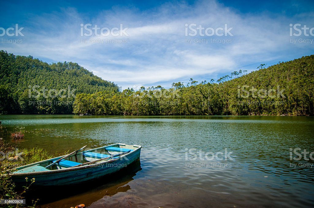 Waiting for a ride at Echo Point, Munnar stock photo