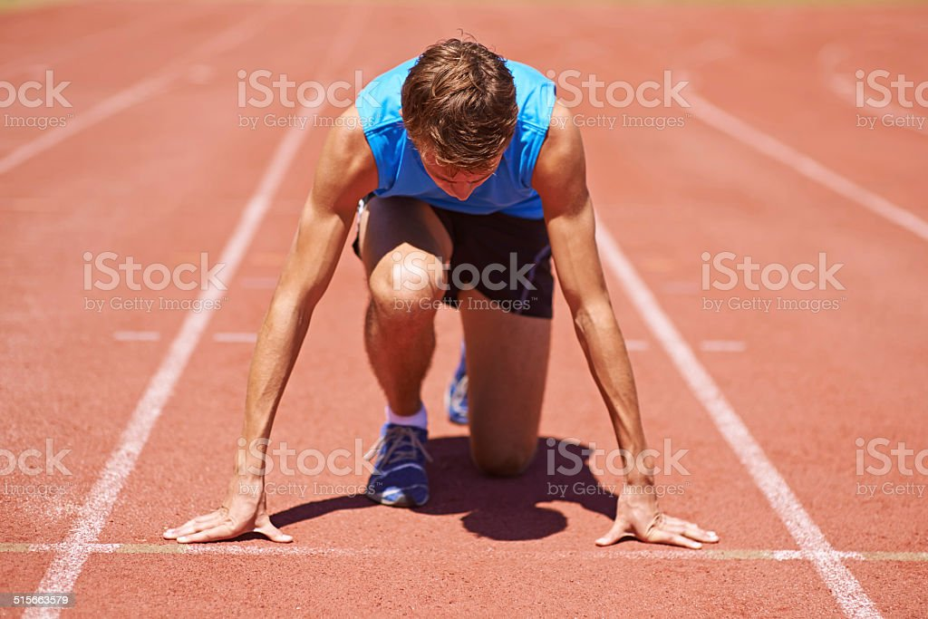 Waiting for a worthy competitor stock photo