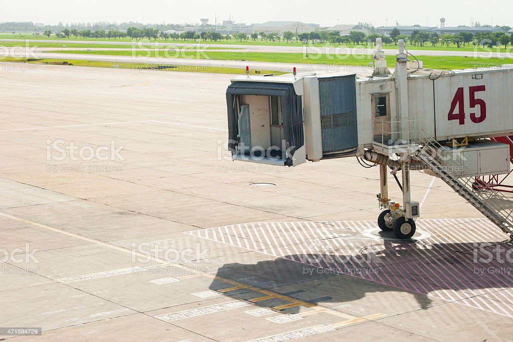 Waiting for airplane stock photo