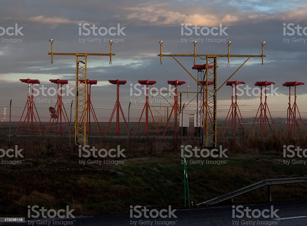 Waiting for an aircraft royalty-free stock photo