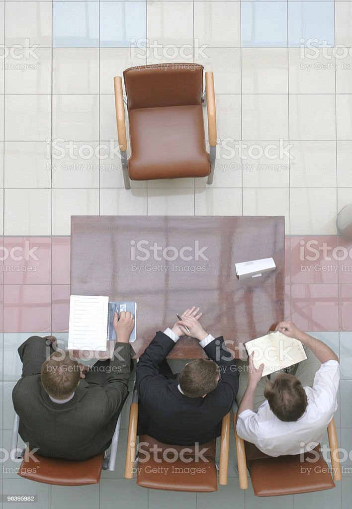 Waiting for applicant 1 royalty-free stock photo