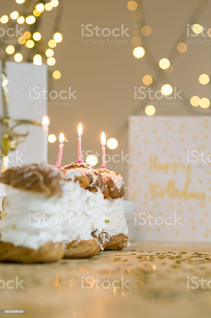 Waiting for birthday person stock photo