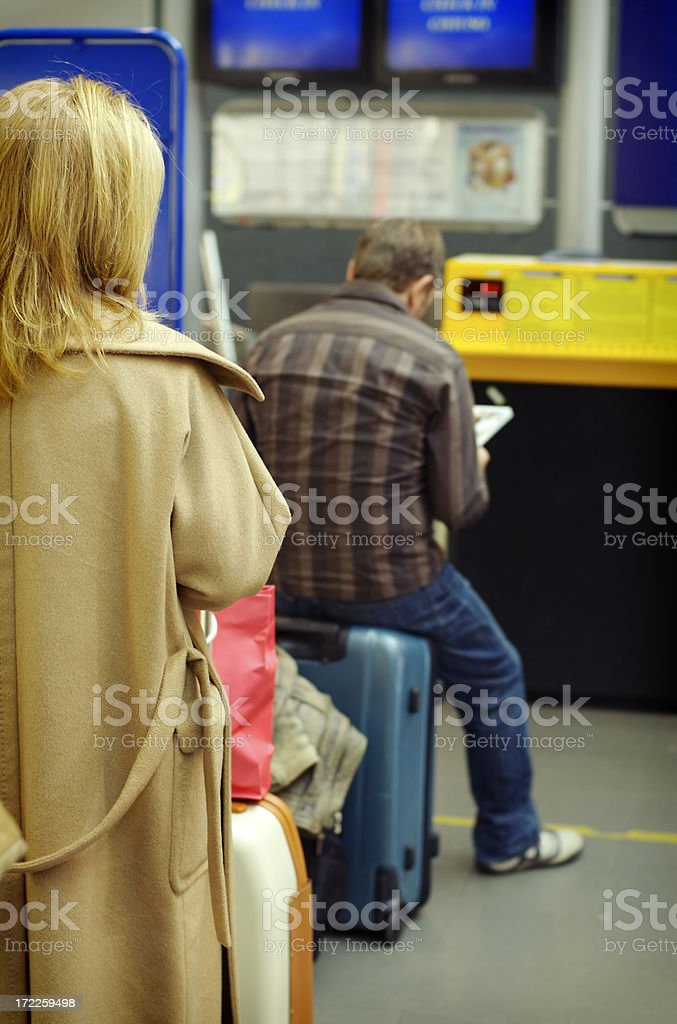 waiting for check In - 3 royalty-free stock photo