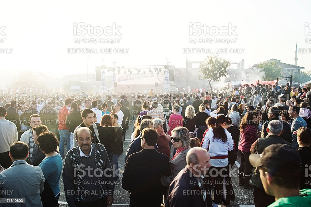 Waiting for concert stock photo