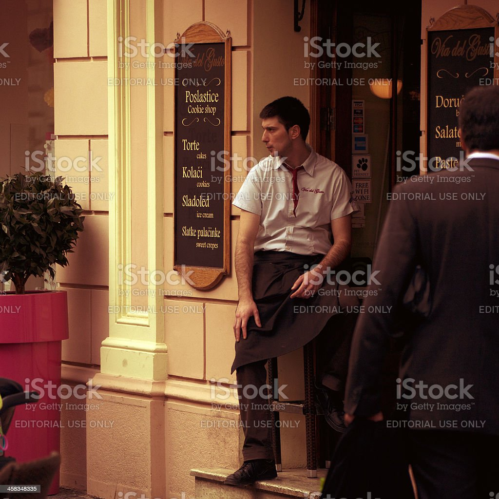 Waiting for customers royalty-free stock photo