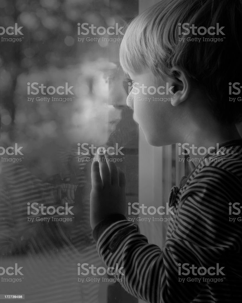 Waiting for Daddy royalty-free stock photo