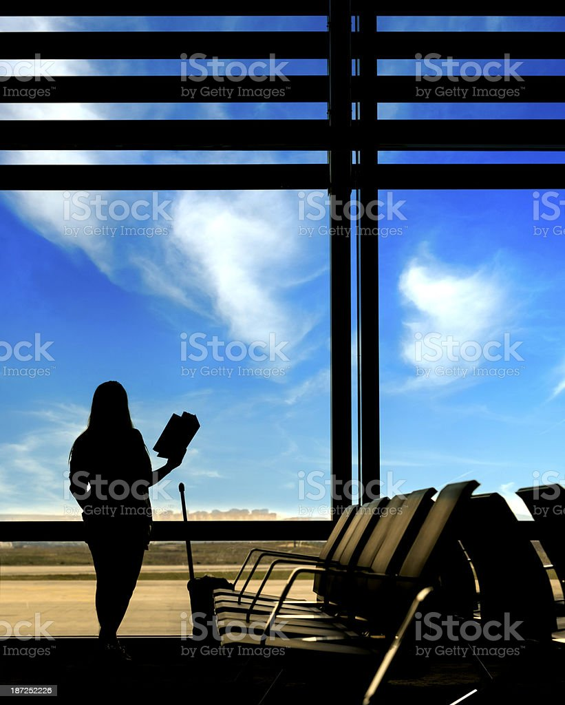 waiting for departure royalty-free stock photo