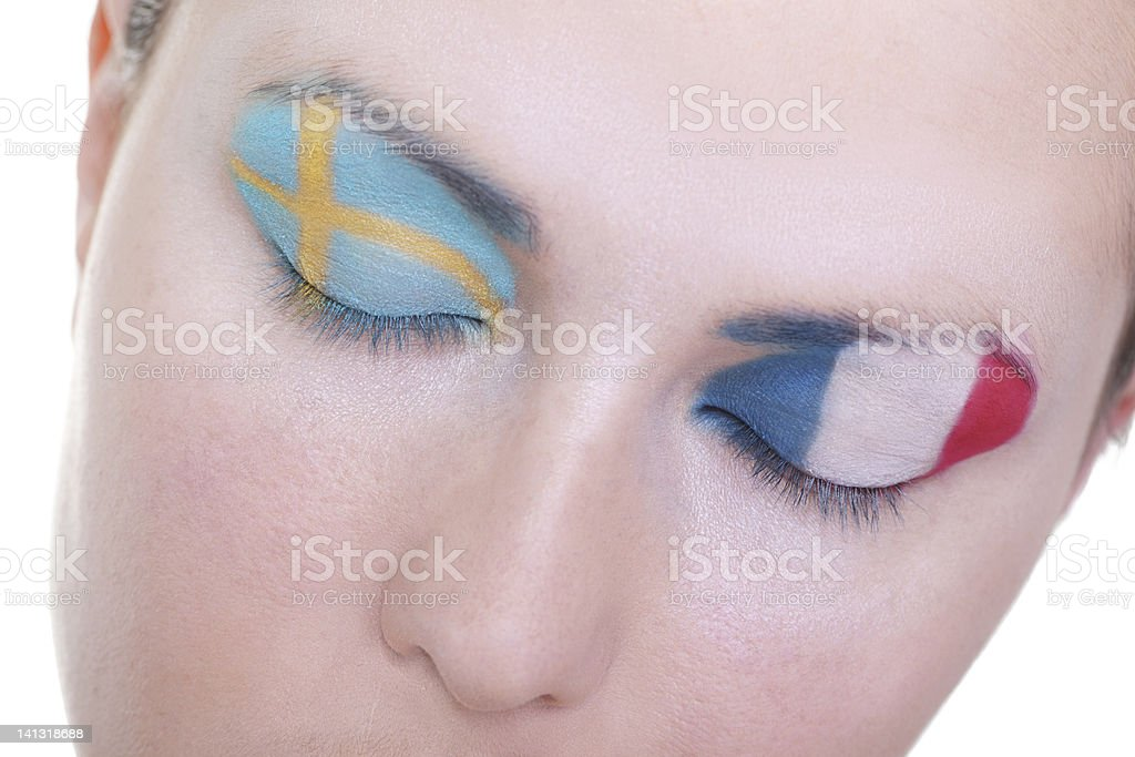 Waiting for exciting match, group D royalty-free stock photo