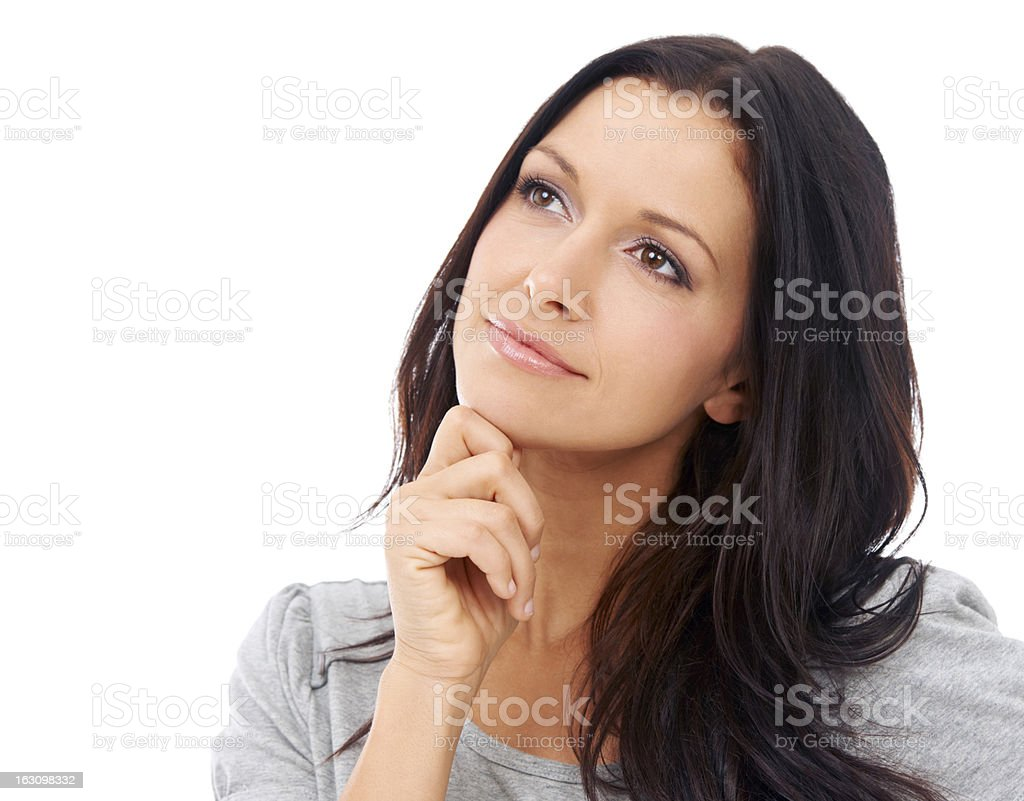 Waiting for her dreams to come true royalty-free stock photo