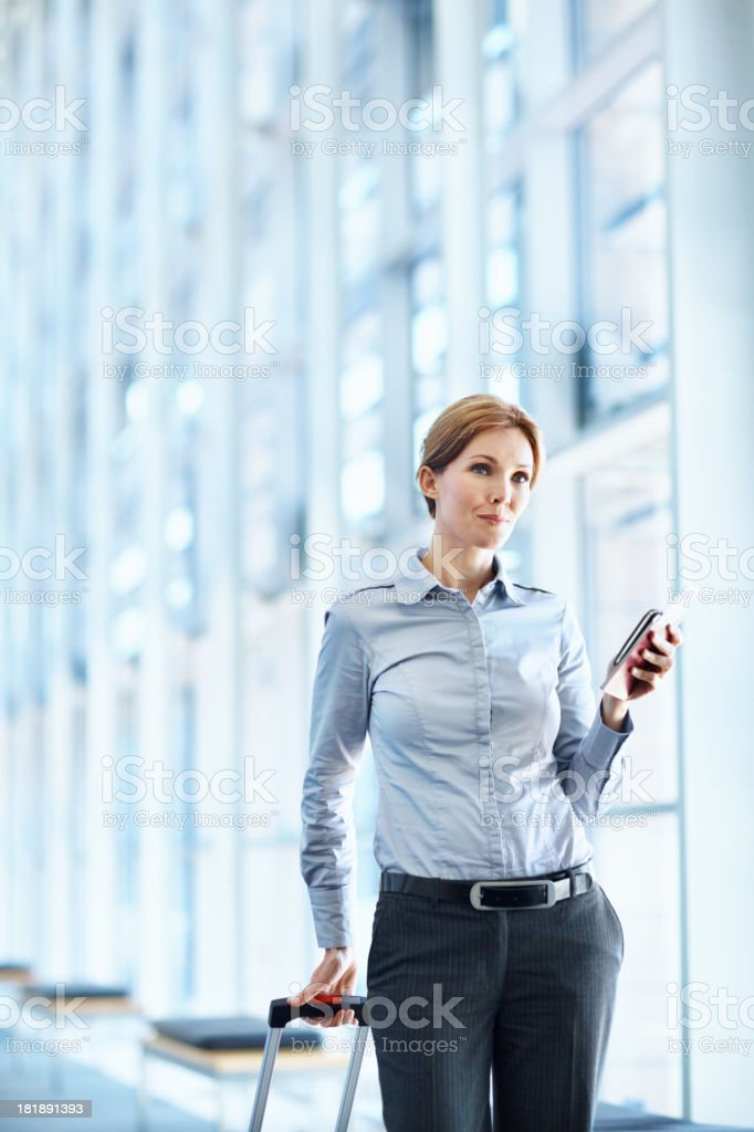 Waiting for her plane royalty-free stock photo