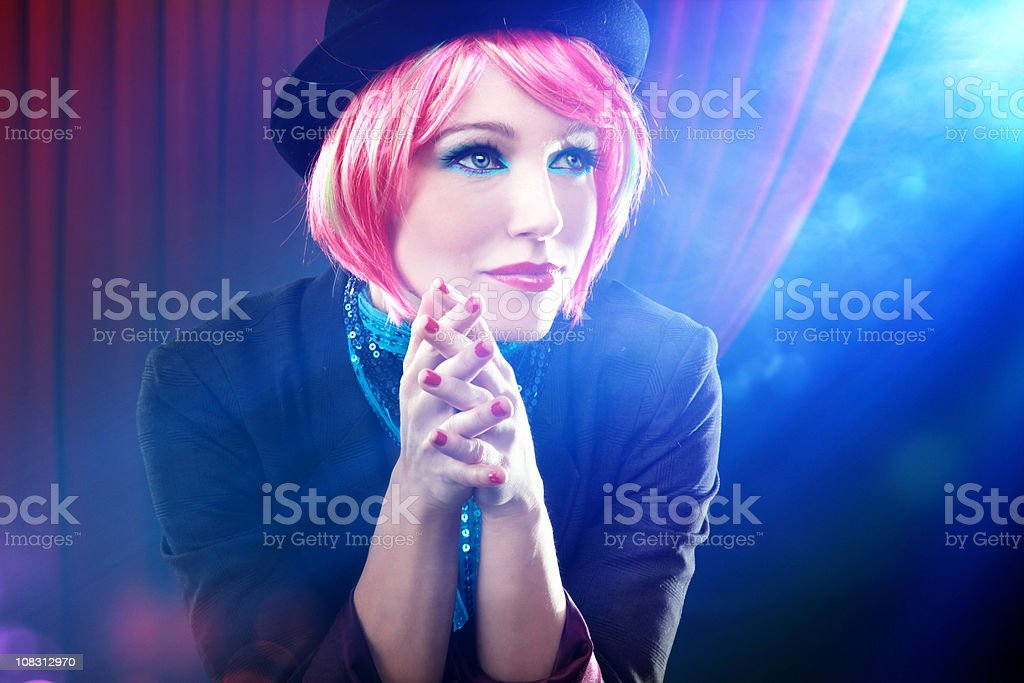 Waiting for her show royalty-free stock photo