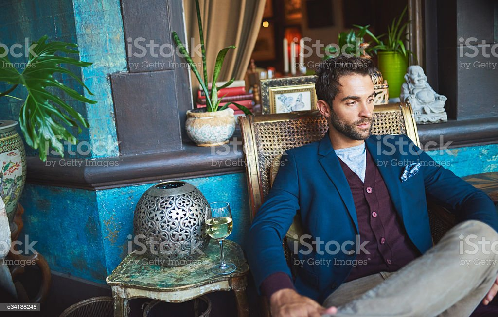 Waiting for his usual order stock photo