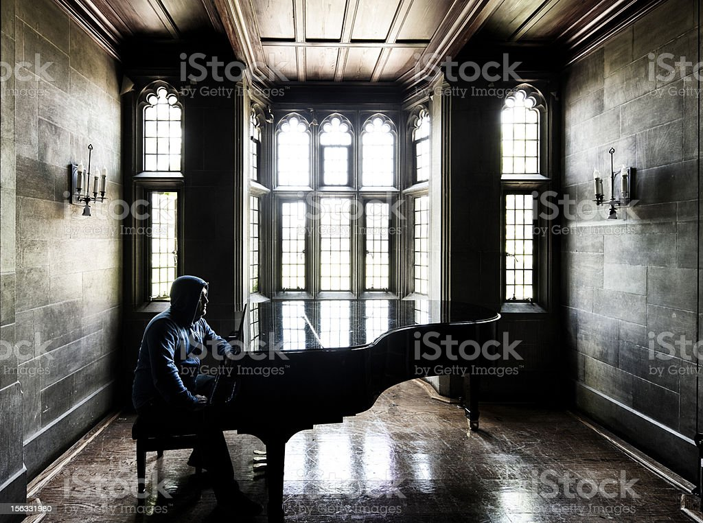Waiting for inspiration royalty-free stock photo