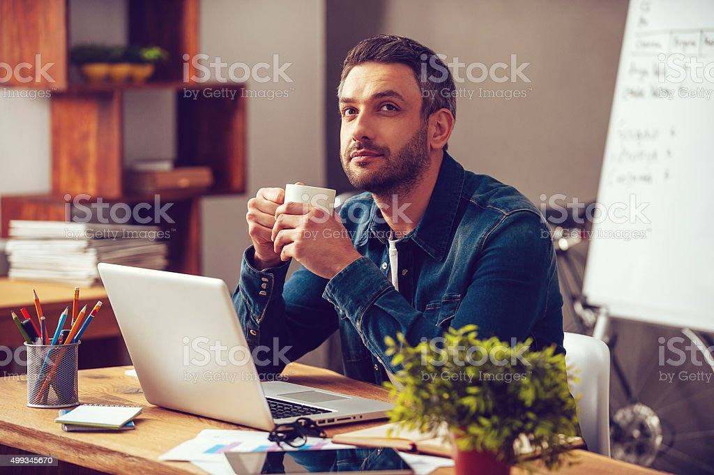 Waiting for inspiration. stock photo