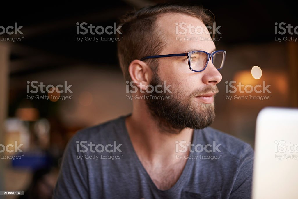 Waiting for inspiration to strike stock photo