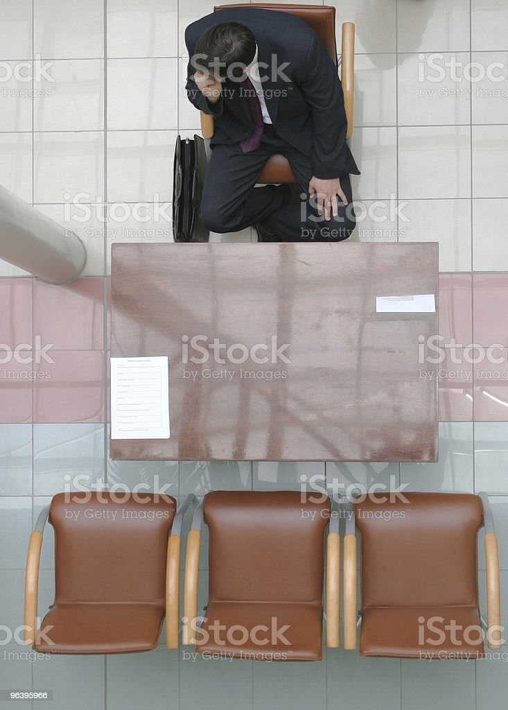 Waiting for interview 2 royalty-free stock photo