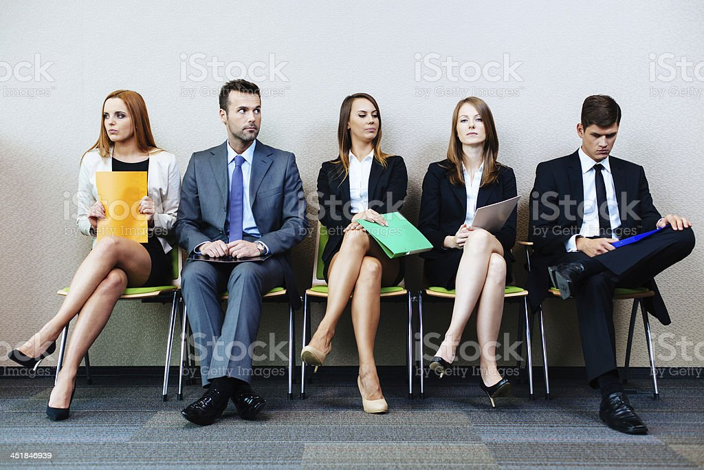 Waiting for interview stock photo