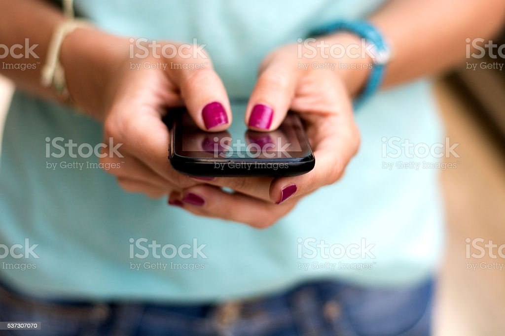 Waiting for message stock photo