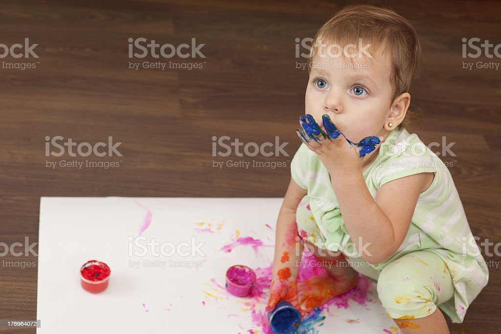 Waiting for muse royalty-free stock photo
