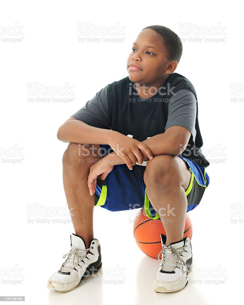 Waiting for My Basketball Buddies stock photo