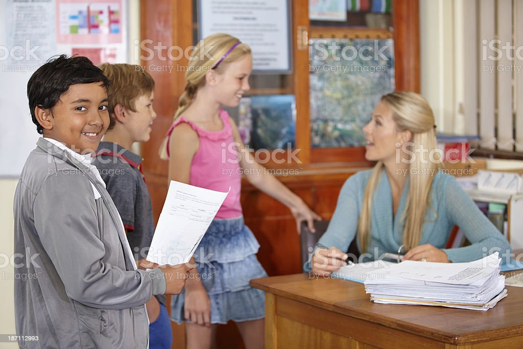Waiting for my grade! stock photo