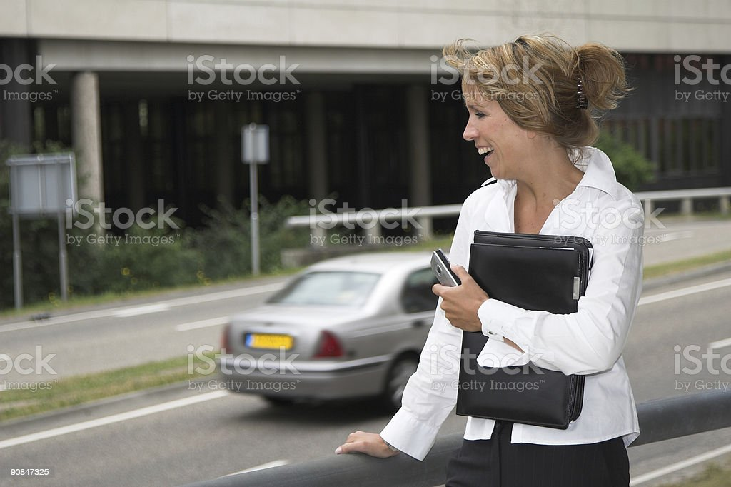 Waiting for my ride royalty-free stock photo